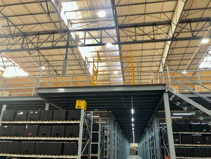 STRUCTURAL SUPPORTED MEZZANINE
